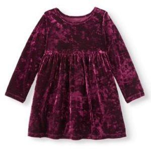 Healthtex Red Velvet Long Sleeve Dress 3T